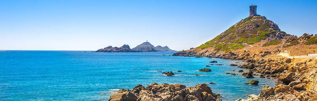 Vue de la Parata et des îles Sanguinaires