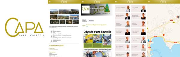Captures d'écrans de l'application CAPA