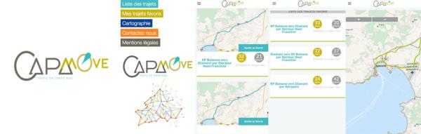 Captures d'écrans de l'application CAPA Move