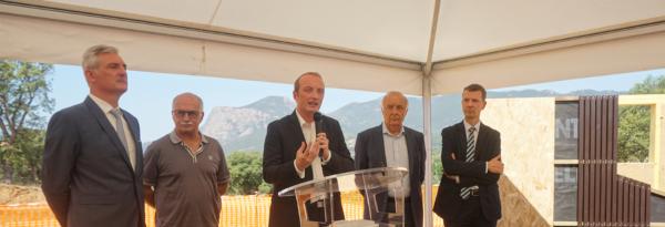 Discours de Laurent Marcangeli pour la pose de la 1ère pierre du centre social de Peri