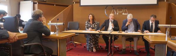 Laurent Marcangeli lors des rencontres de l'Assemblée des Communautés de France