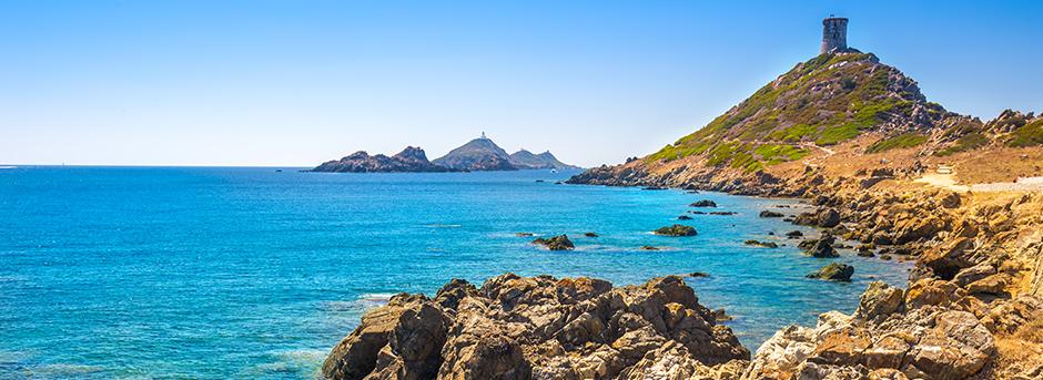 Pointe de la Parata et les îles Sanguinaires