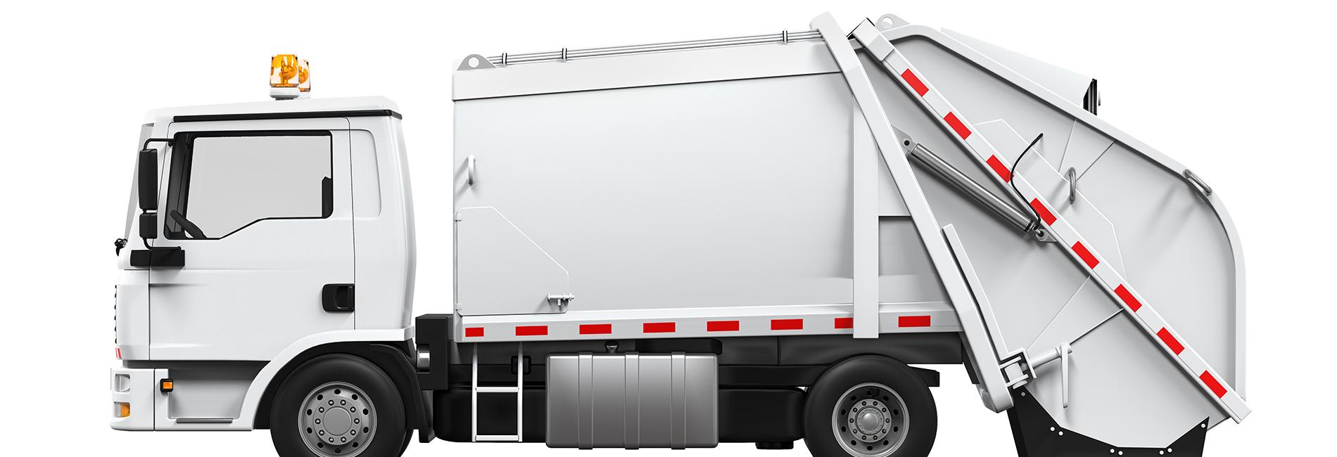 Camion collecte des déchets