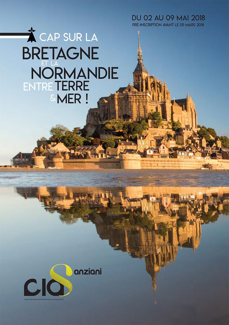 Affiche voyage CIAS Bretagne Normandie