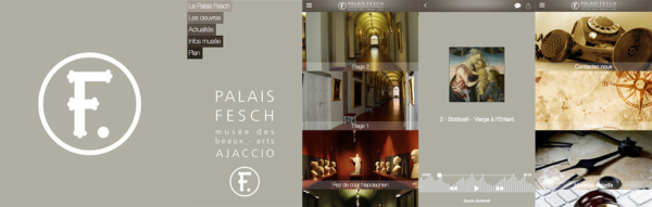 Captures d'écrans de l'application Musée Fesch