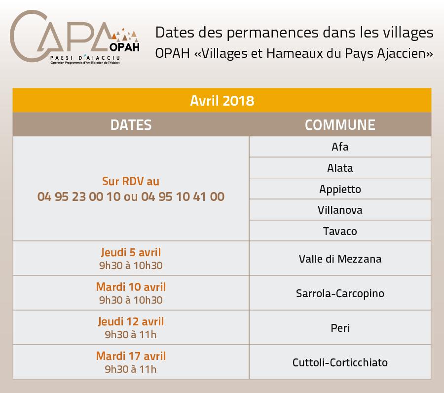 Permanences OPAH avril 2018