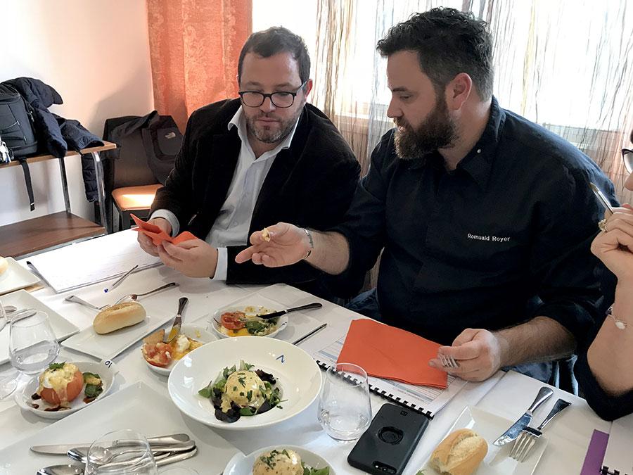 Concours culinaire napoléonien : Nicolas Stromboni et Romuald Royer