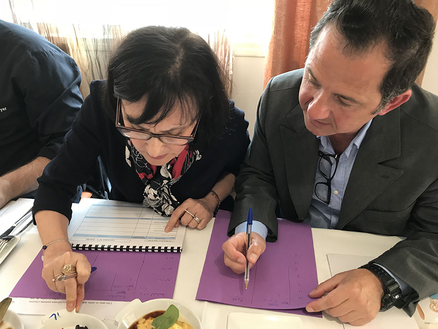 Concours culinaire napoléonien : Rose-Marie Ottavi et Jean-Pierre Aresu