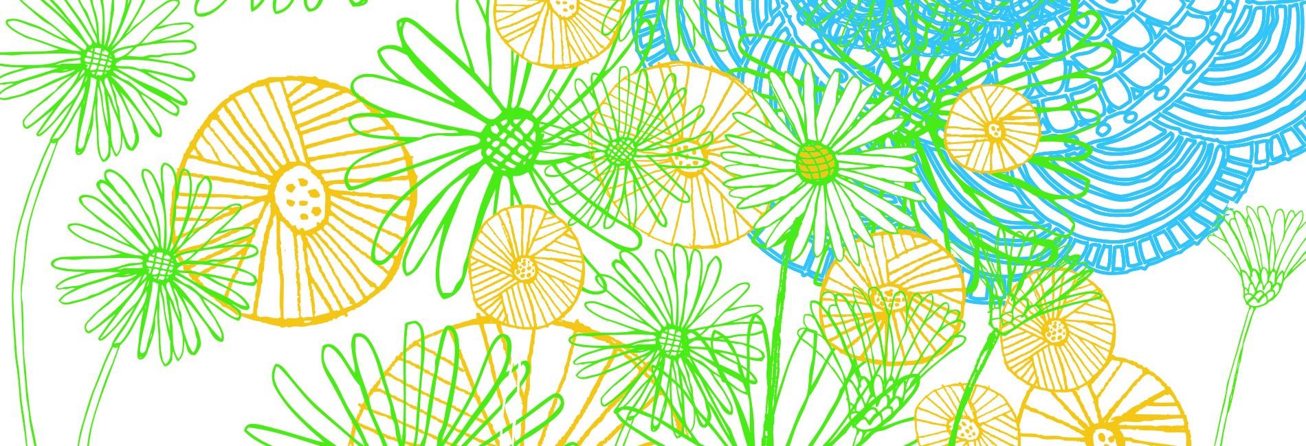 fleurs en illustration