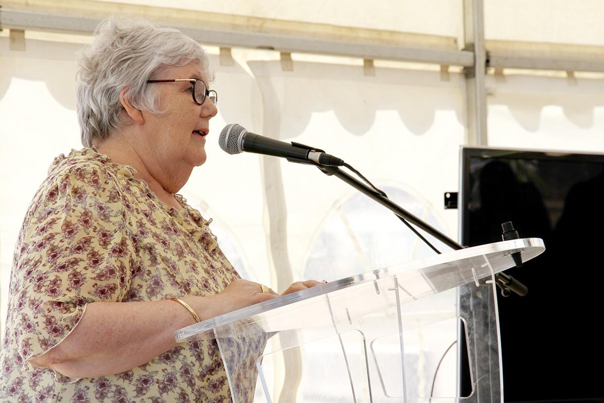 Madame la Ministre, Jacqueline Gourault au micro