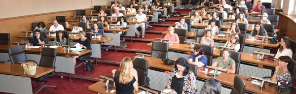 Présentation du projet social en salle du conseil