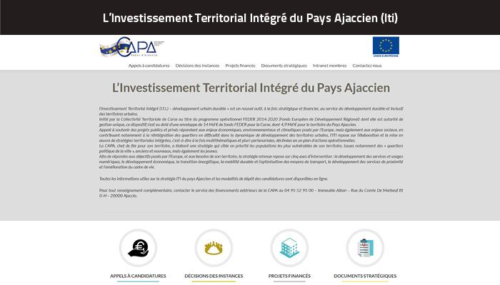 Site de l'Investissement Territorial Intégré du Pays Ajaccien