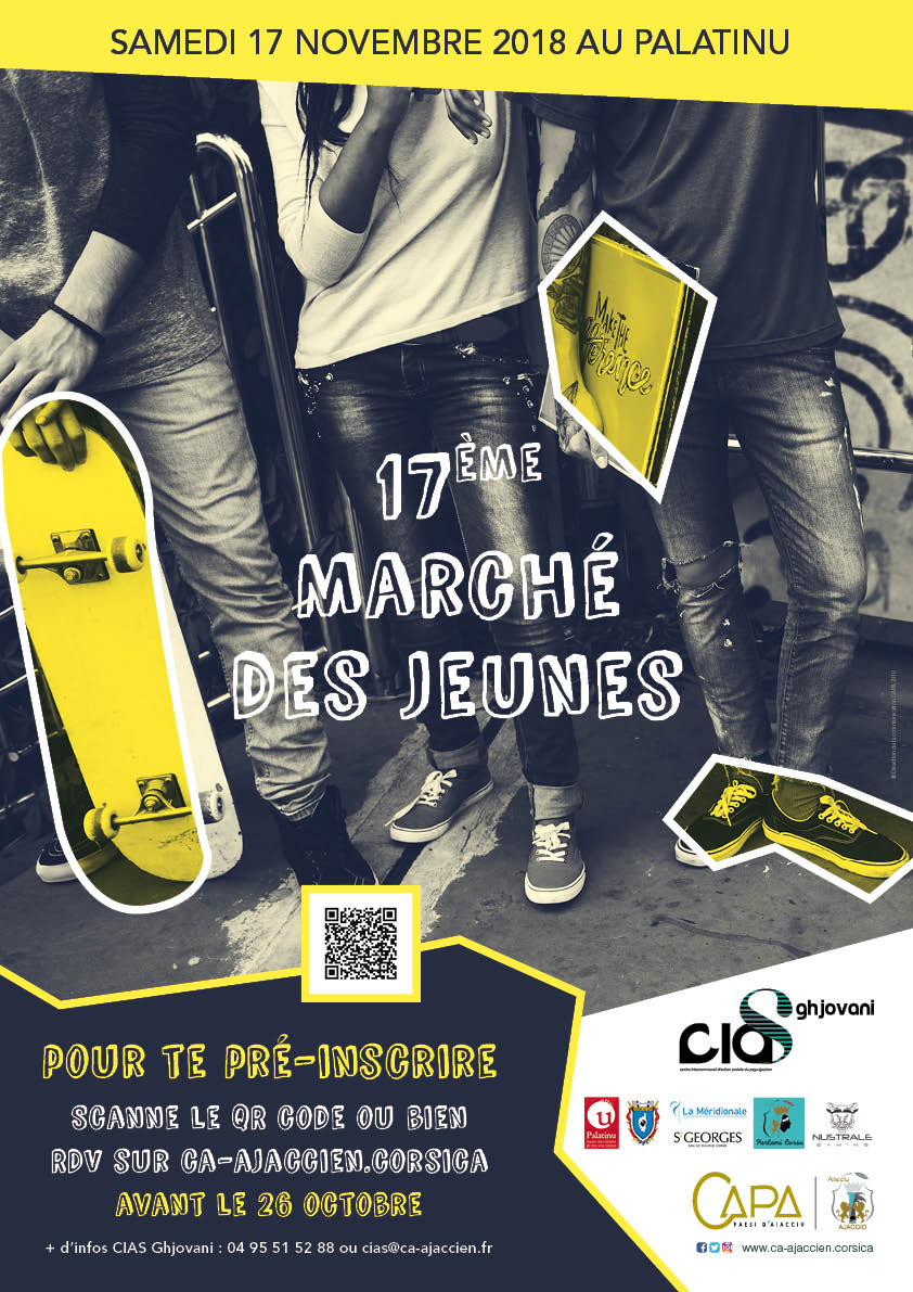 Affiche 17ème marché des jeunes en Pays Ajaccien