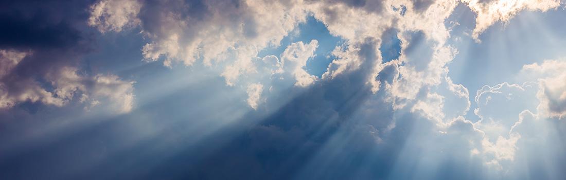 Soleil perçant après la tempête