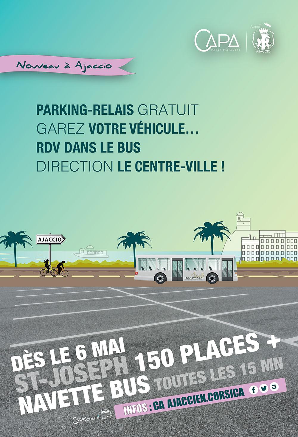 L'affiche du nouveau parking Saint-Joseph