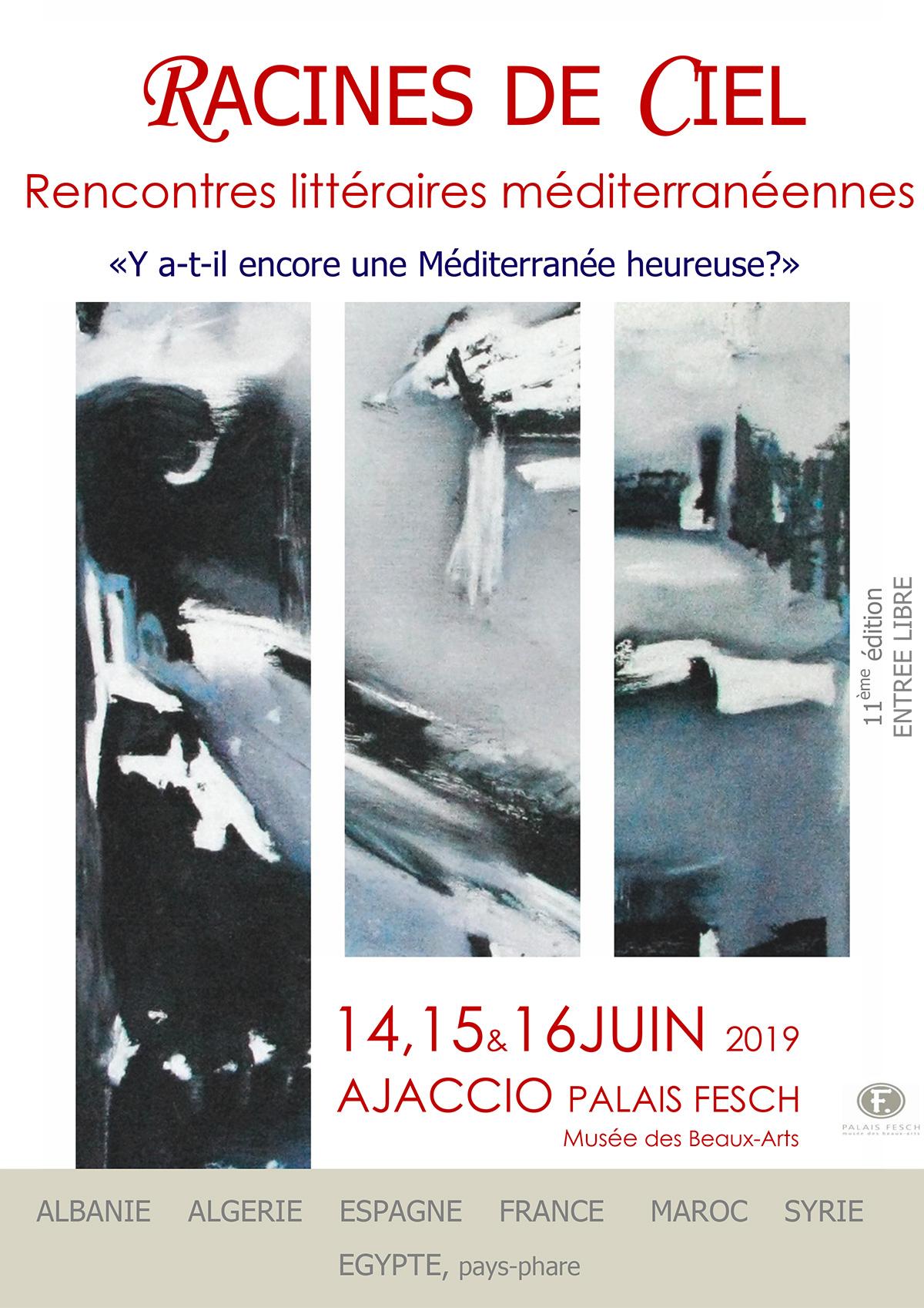Affiche des 11èmes rencontres littéraires méditerranéennes
