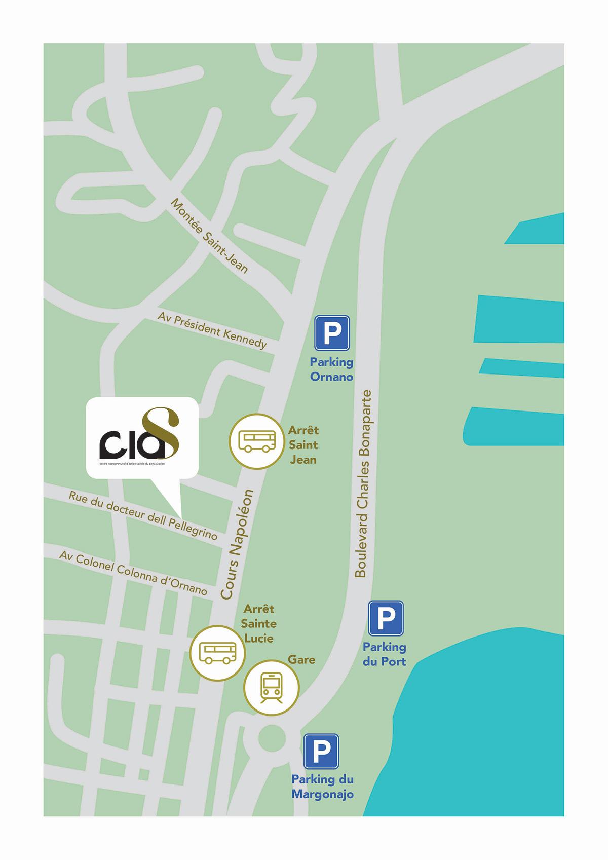 Accès aux locaux du CIAS à Alban, rue du Dr Del Pellegrino