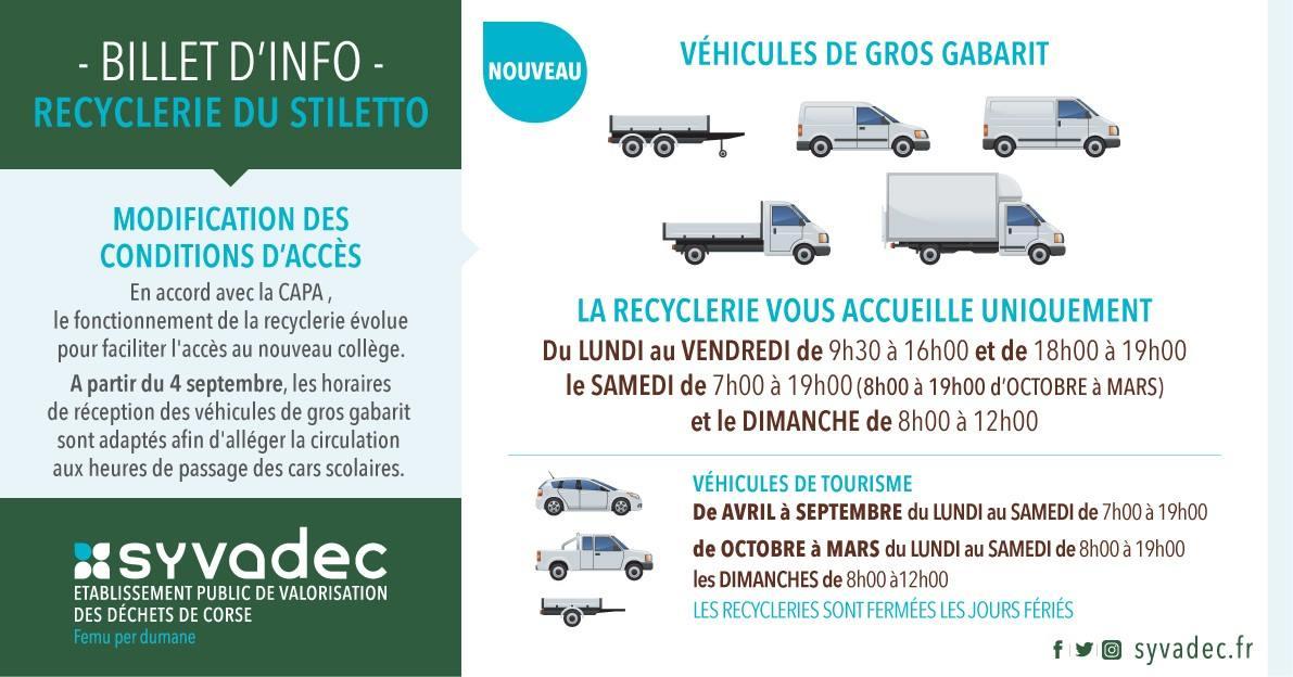 Modification d'accès à la recyclerie pour les véhicules de gros gabarit