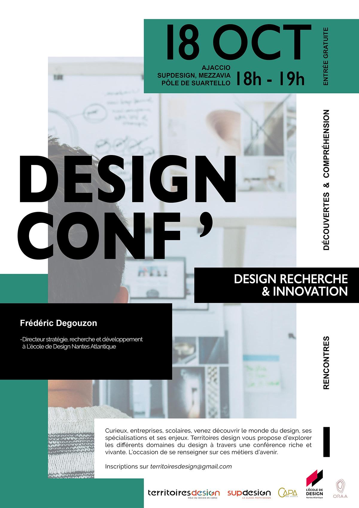 Affiche conférence sup design