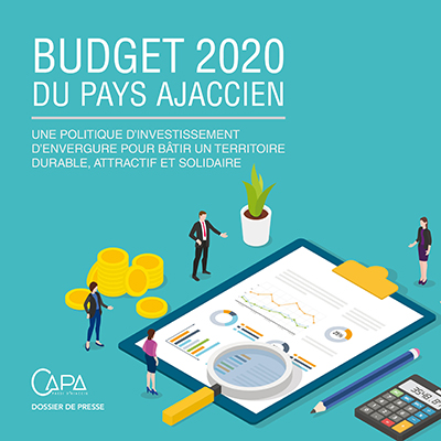 couverture dossier de presse budget 2020