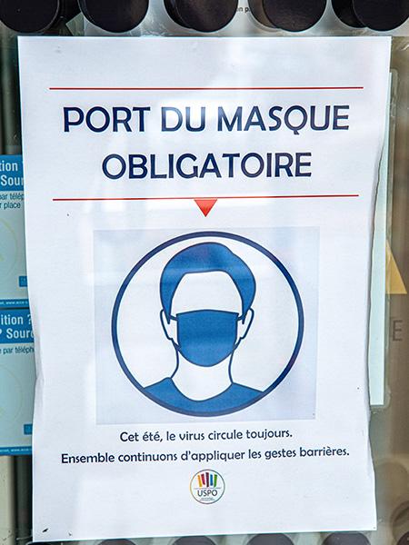 affiche port du masque obligatoire