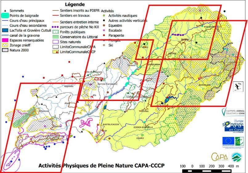 Carte des 4 pôles APN