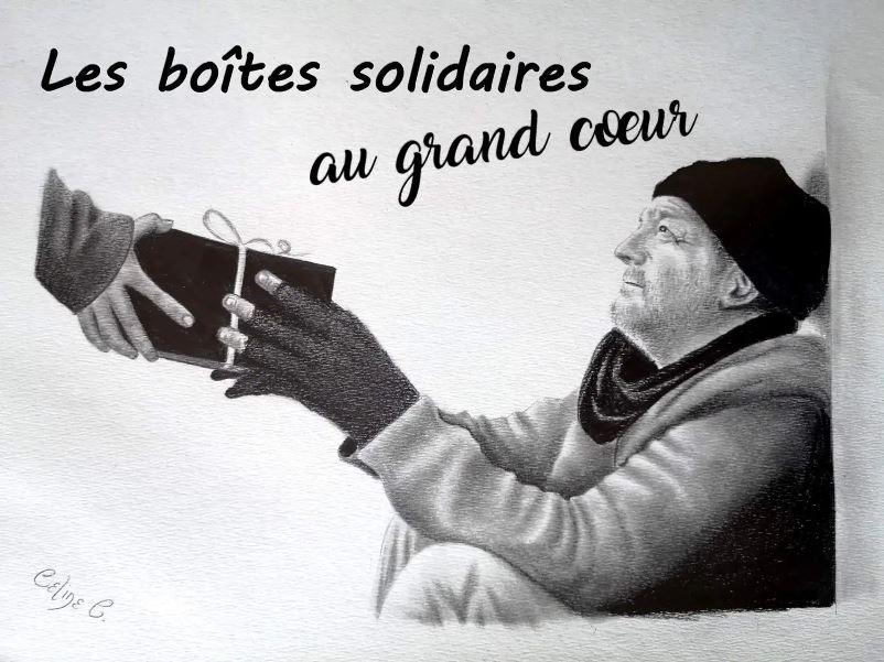 dessin solidaire boite de noel - © Céline Colonna – @cedessine · Arts et divertissement