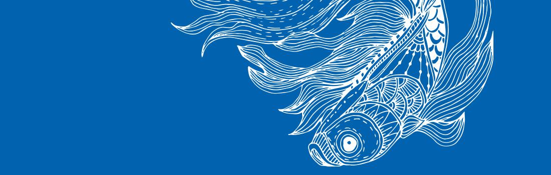 Illustration d'un poisson pour le programme d'été 2021 du CIAS du Pays Ajaccien
