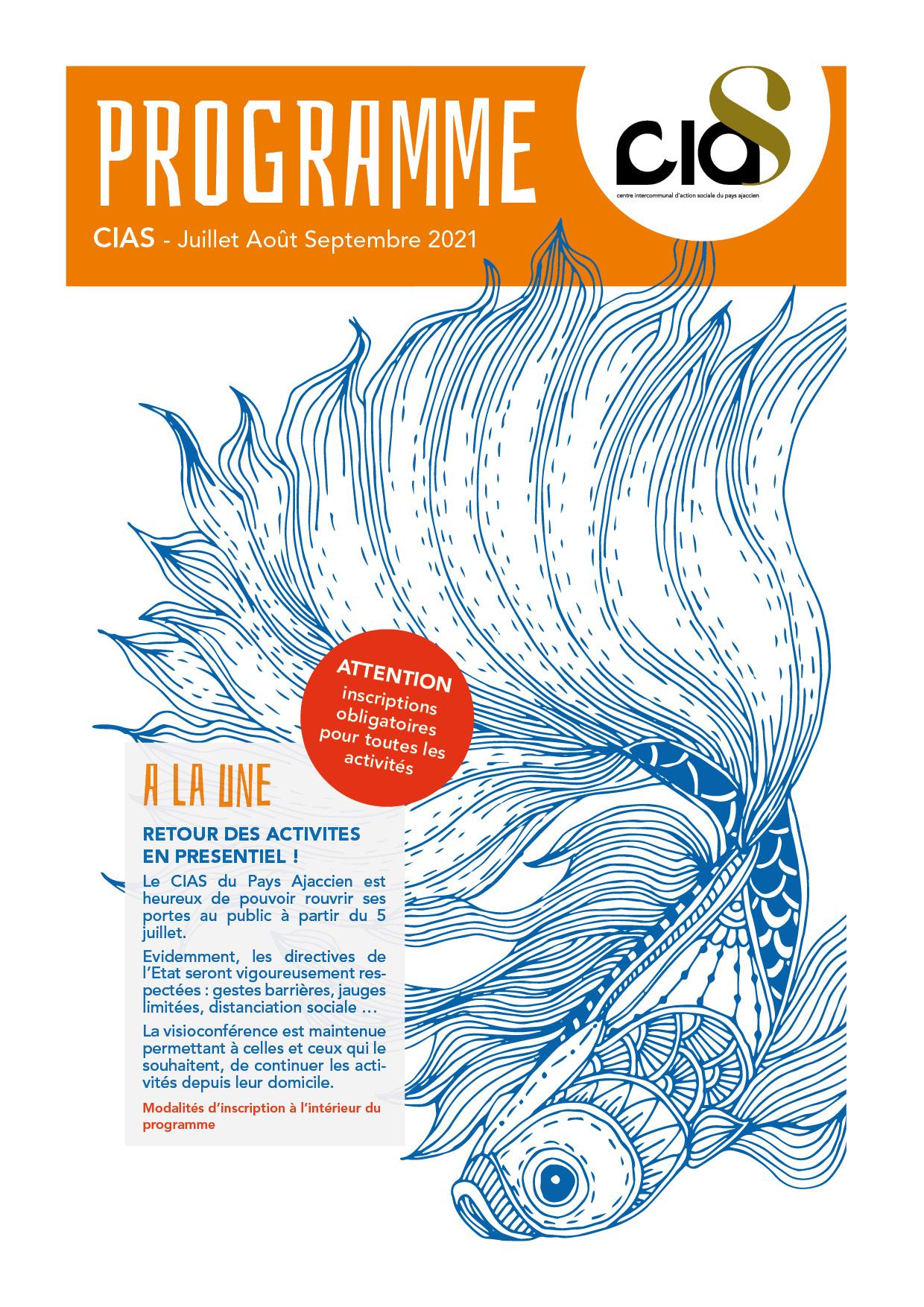 Couverture du programme d'été 2021 du CIAS du Pays Ajaccien